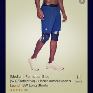 Under Armour Launch Long Shorts (Med & Lrg)